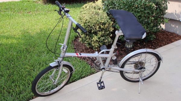 Komda Folding Bicycle with a RealSeat Bike Seat